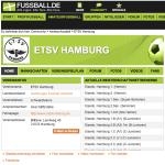 ETSV Hamburg auf fussball.de