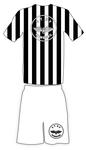Trikotfarben schwarz-weiß/weiß